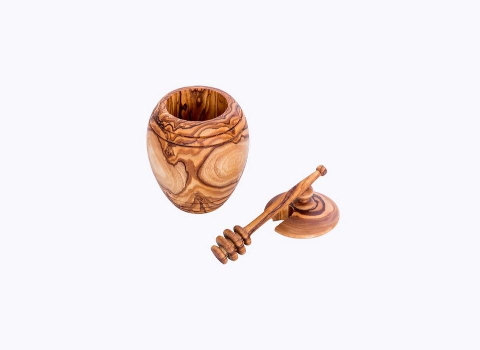 Barrel Honey Pot wood